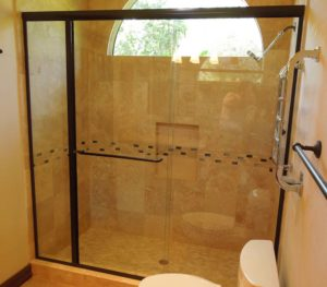tub enclosure, bronze color