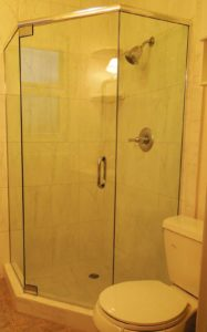shower enclosure pivoted door