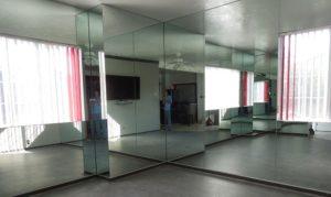 reflection of many wall mirrors